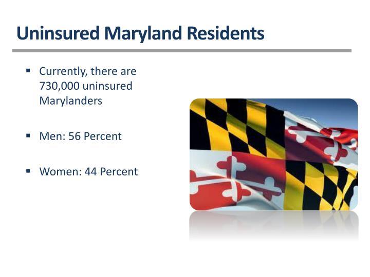 Uninsured Maryland Residents
