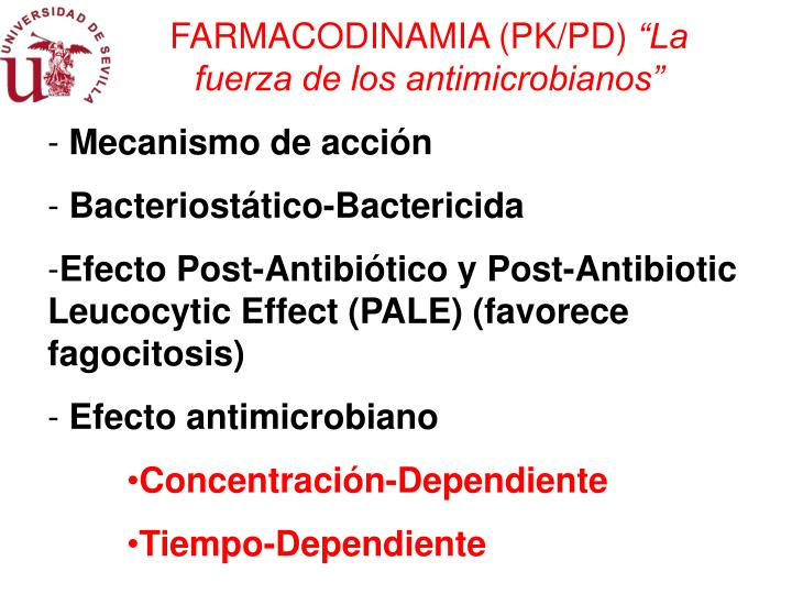 FARMACODINAMIA (PK/PD)