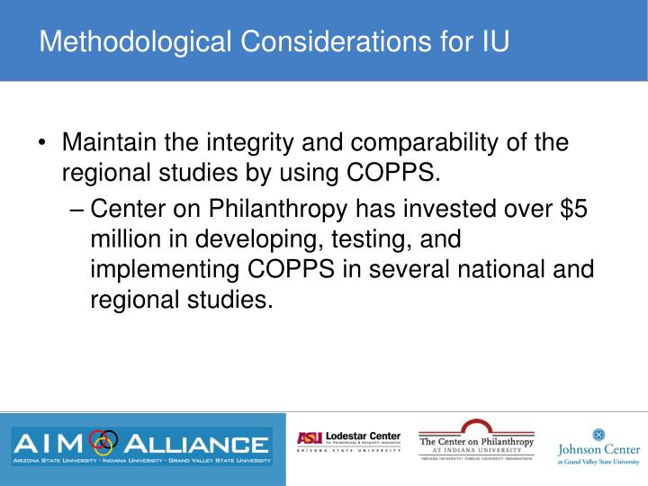 Methodological Considerations for IU