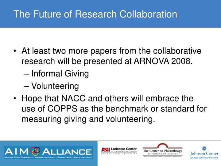 The Future of Research Collaboration