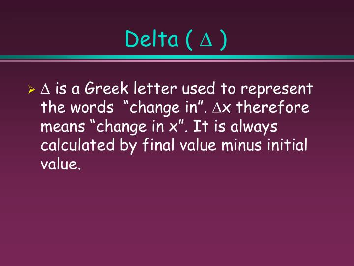 Delta (