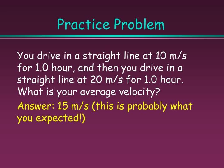 Practice Problem