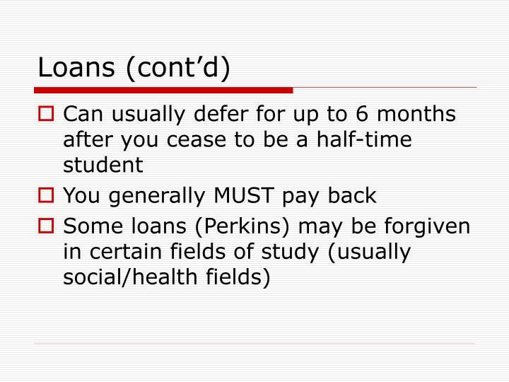 Loans (cont'd)