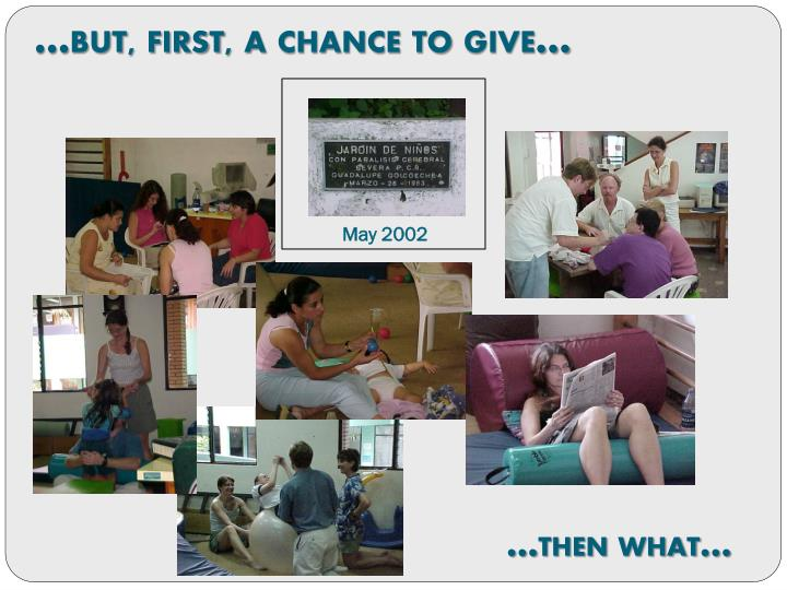 …but, first, a chance to give…