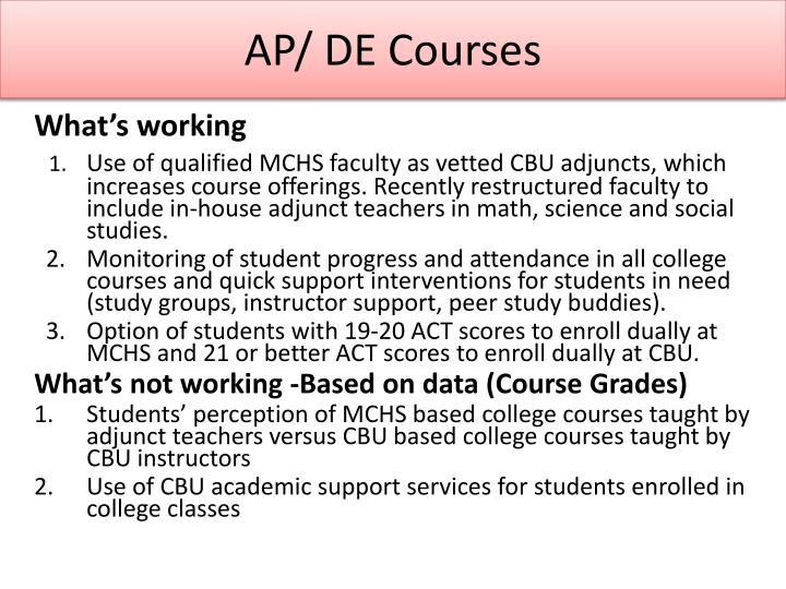 AP/ DE Courses