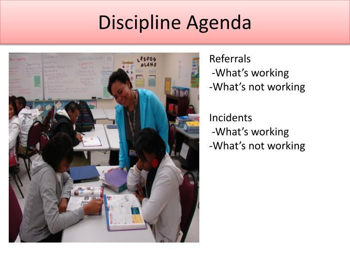 Discipline Agenda