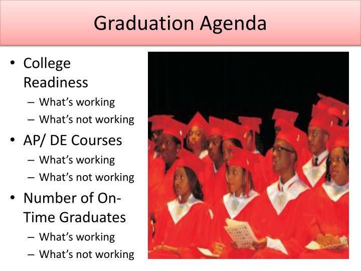Graduation Agenda