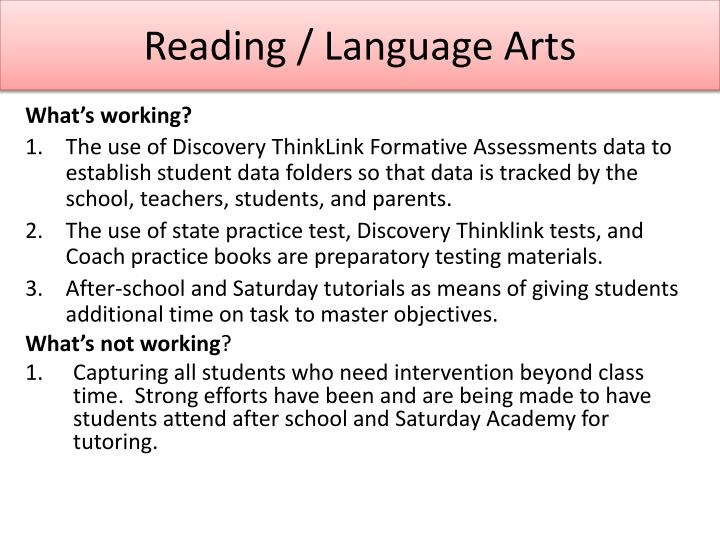 Reading / Language Arts