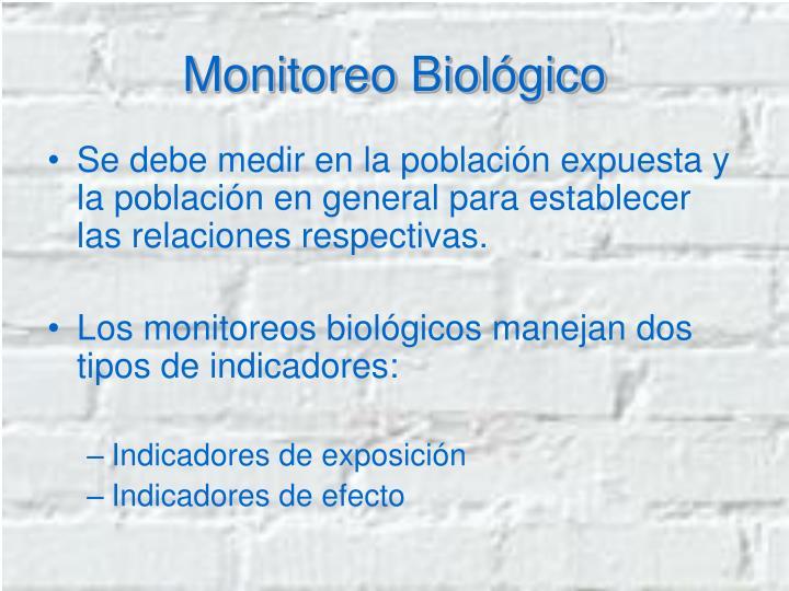 Monitoreo Biológico