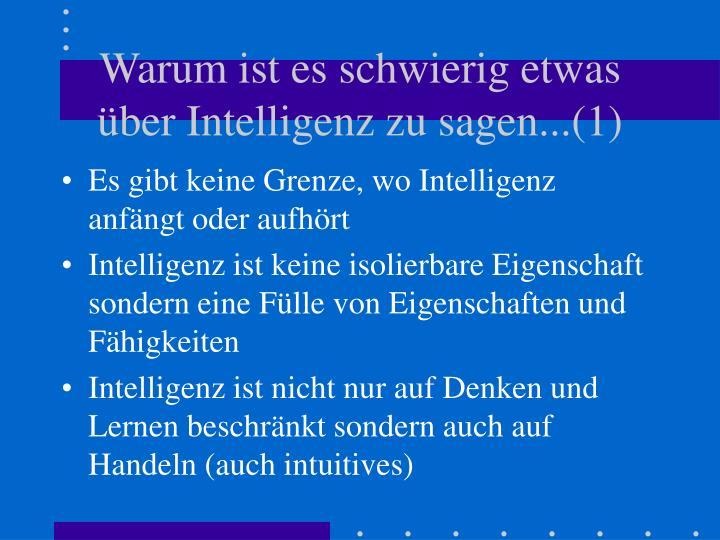 Warum ist es schwierig etwas ber intelligenz zu sagen 1