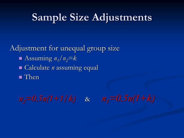 Sample Size Adjustments