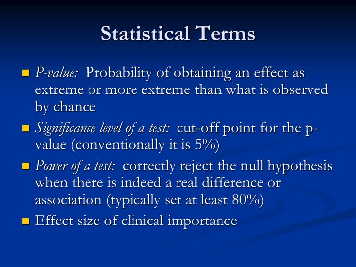 Statistical Terms