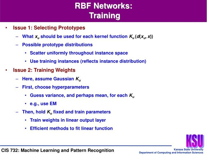 RBF Networks: