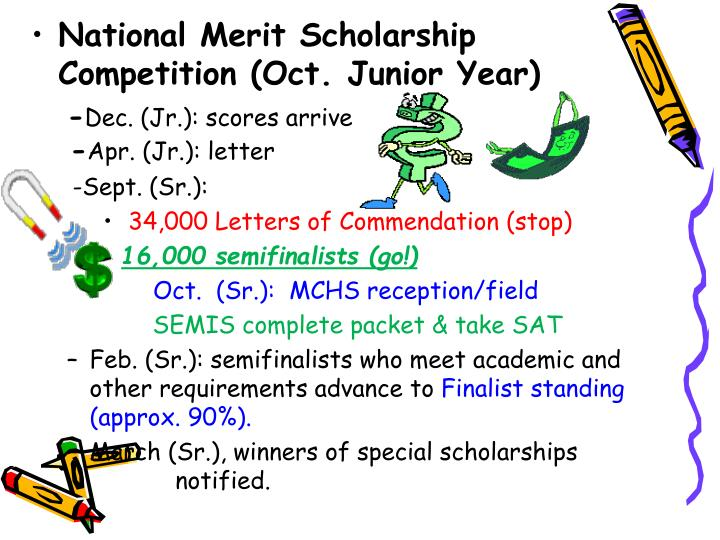 National Merit Scholarship Competition (Oct. Junior Year)