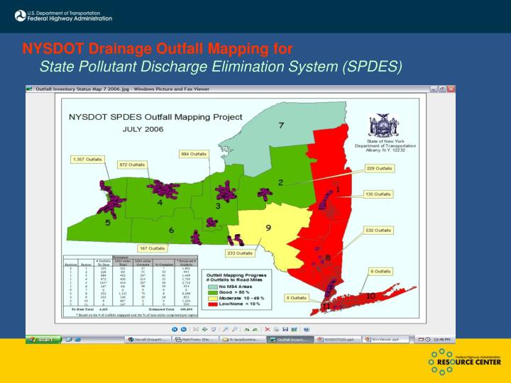 NYSDOT Drainage Outfall Mapping for