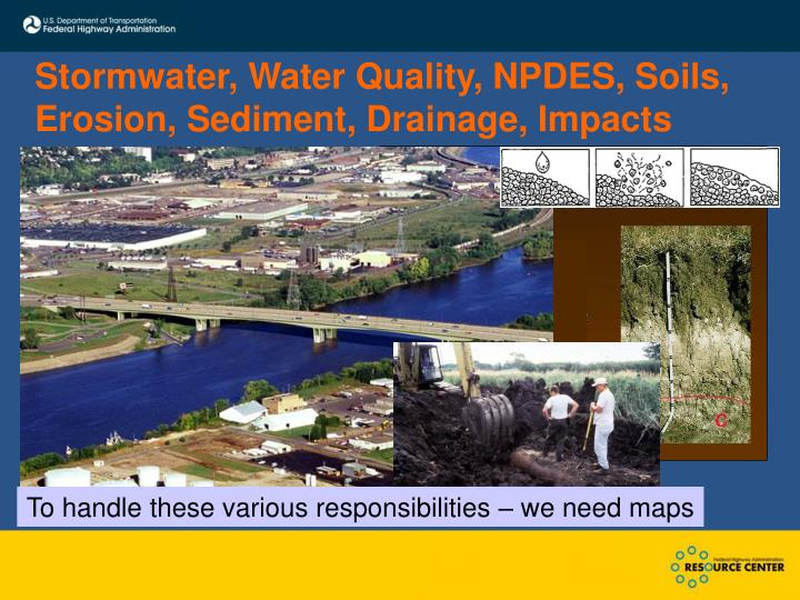 Stormwater water quality npdes soils erosion sediment drainage impacts
