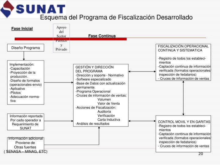Esquema del Programa de Fiscalización Desarrollado