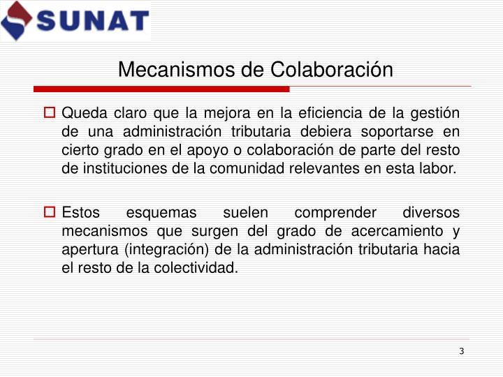 Mecanismos de colaboraci n