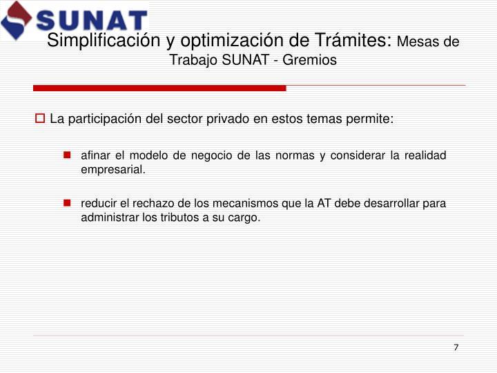 Simplificación y optimización de Trámites: