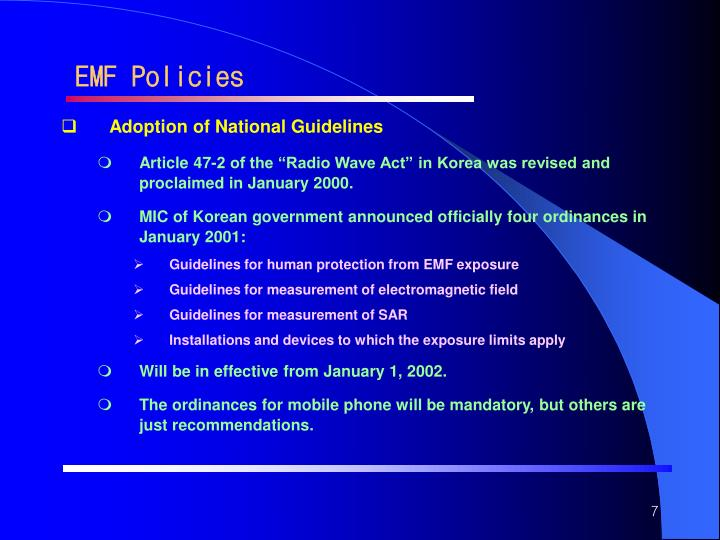 EMF Policies