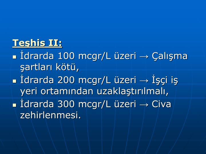 Teşhis II: