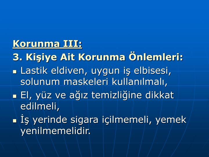 Korunma III: