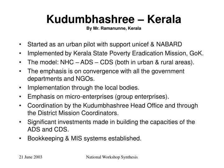 Kudumbhashree – Kerala