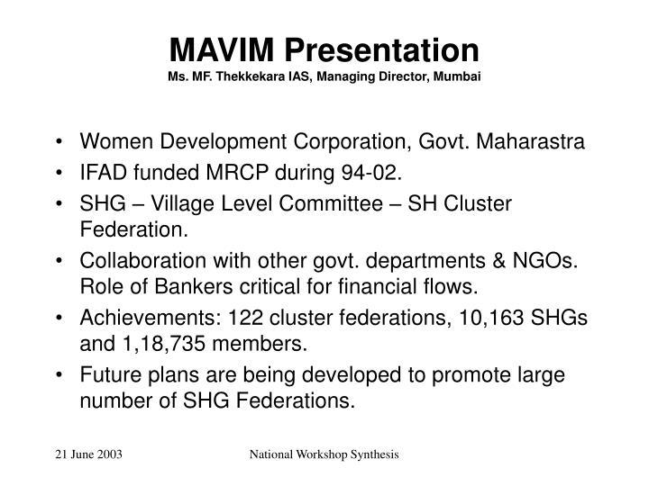 MAVIM Presentation