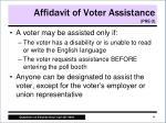 affidavit of voter assistance pre 3