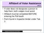 affidavit of voter assistance pre 31
