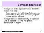 common courtesies