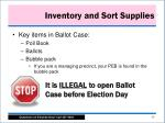 inventory and sort supplies1