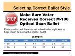 selecting correct ballot style2