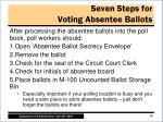 seven steps for voting absentee ballots