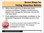 seven steps for voting absentee ballots1