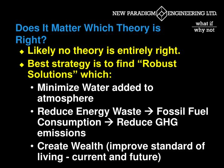 Does It Matter Which Theory is Right?