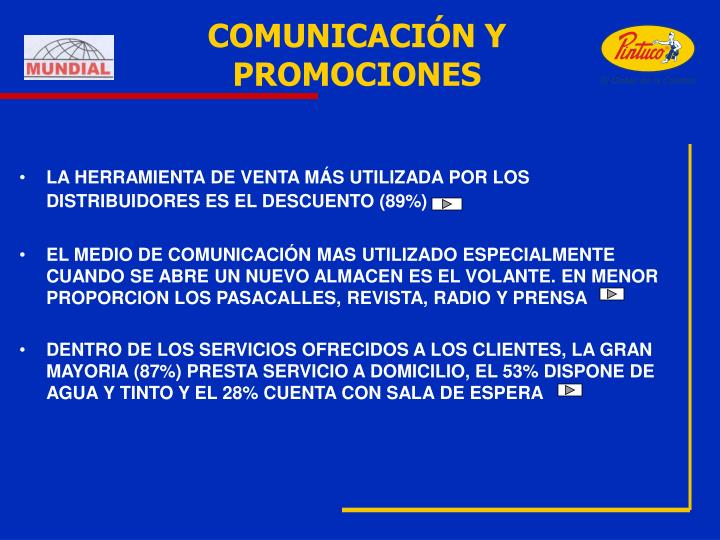 COMUNICACIÓN Y PROMOCIONES