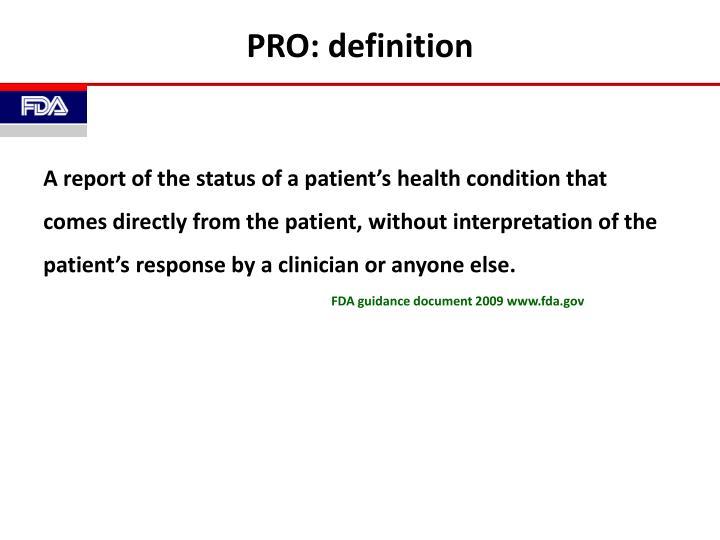 PRO: definition