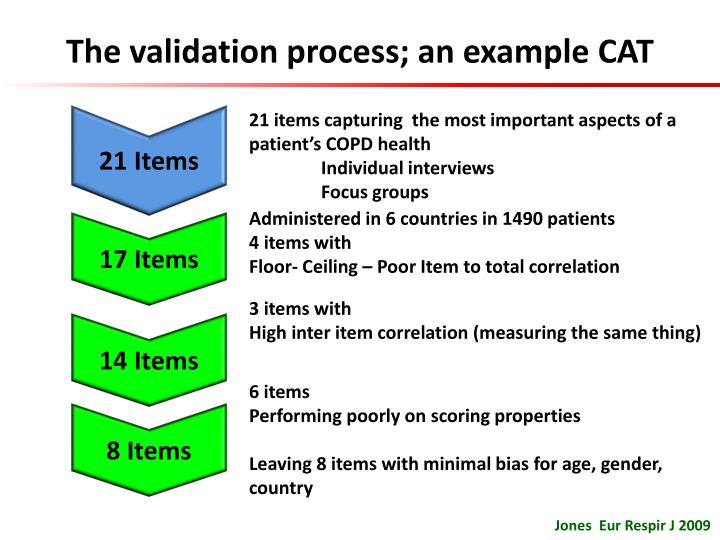The validation process; an example CAT
