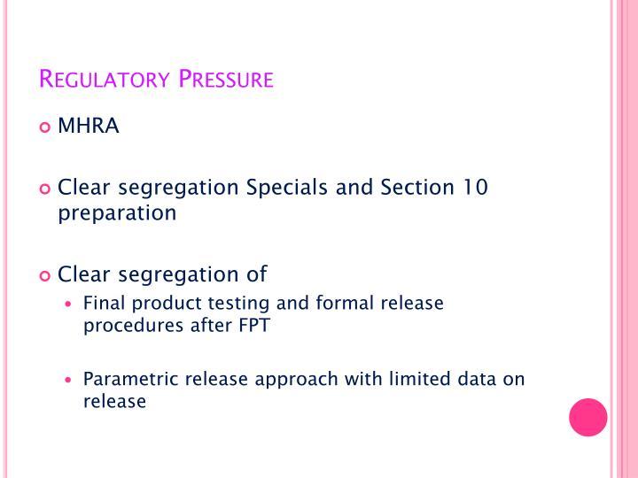 Regulatory Pressure