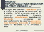 producto proyecto capacitaci n tecnica para colectivos solidarios no1