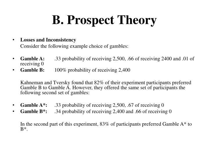 B. Prospect Theory