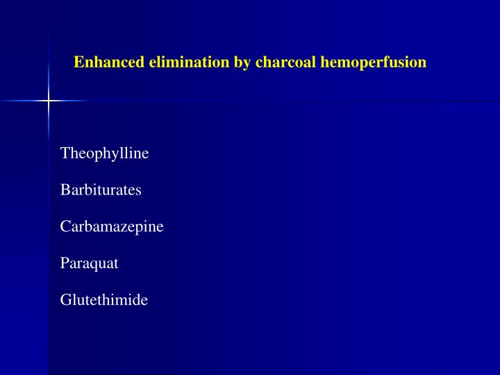 Enhanced elimination by charcoal hemoperfusion