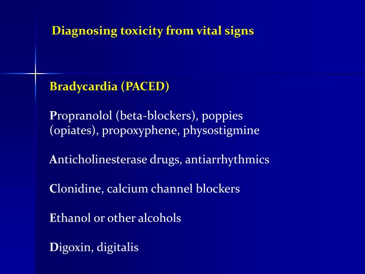 Diagnosing toxicity from vital signs