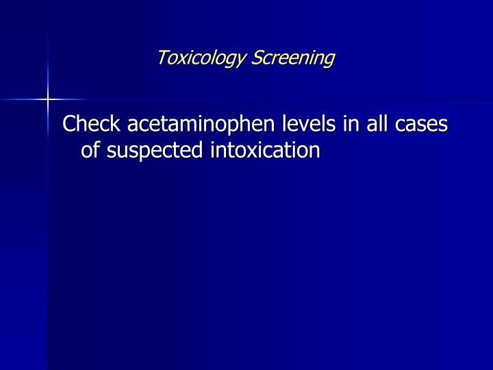 Toxicology Screening