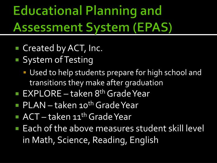 Educational Planning and
