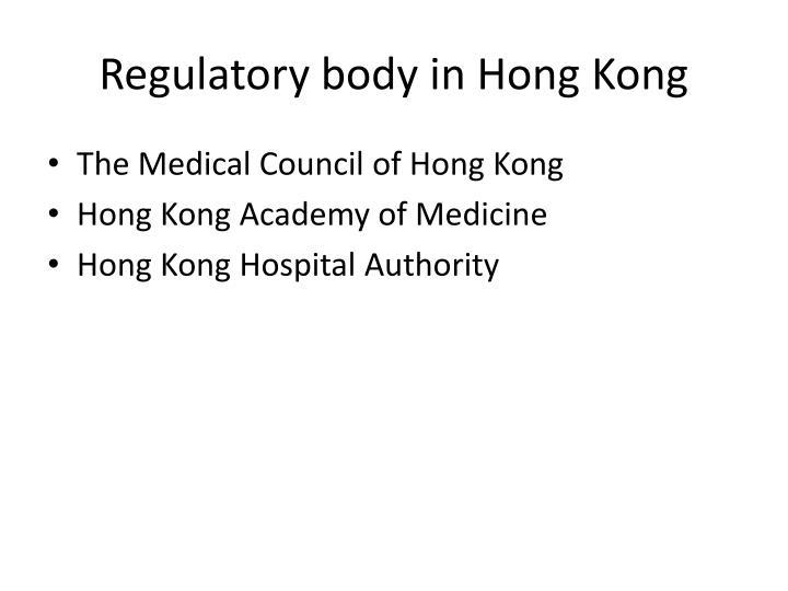 Regulatory body in Hong Kong