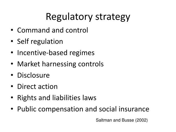 Regulatory strategy