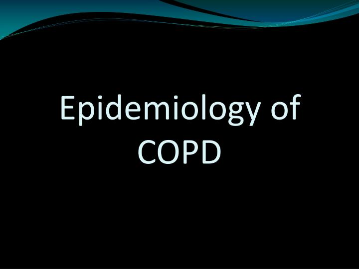 Epidemiology of COPD
