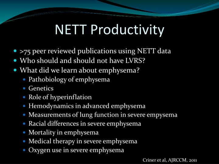 Nett productivity